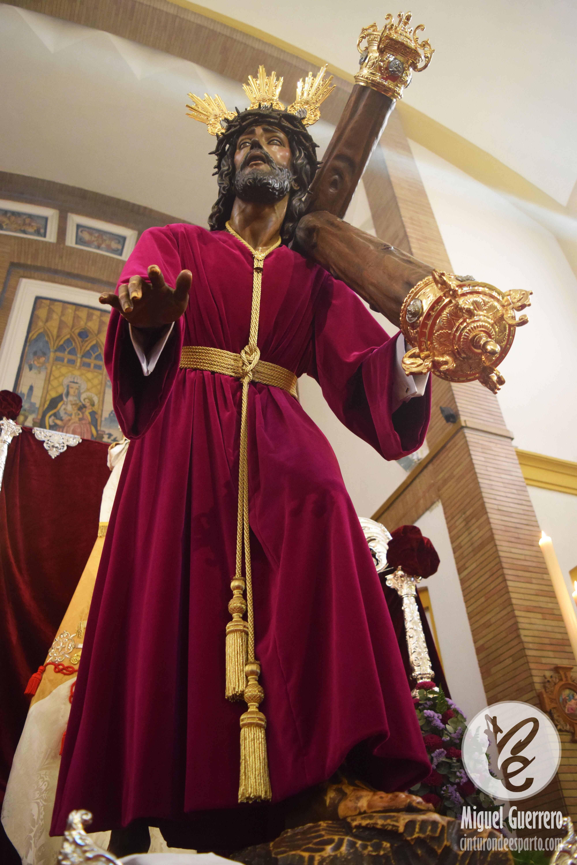 Santa Ana Vivió El Besapiés A Nuestro Padre Jesús De Las Misericordias Cinturón De Esparto